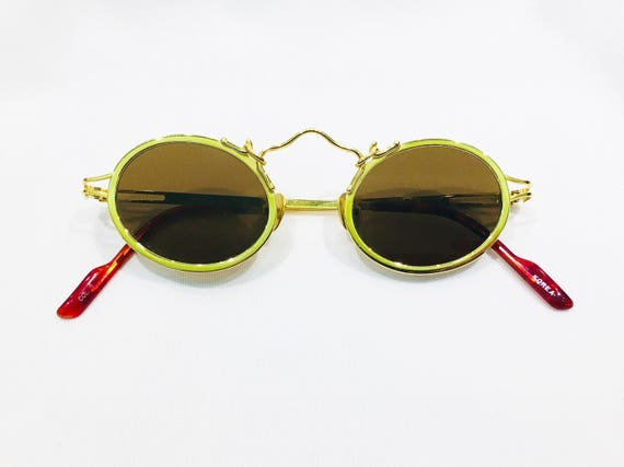 Vintage 1990's Koure Round Gold Sunglasses