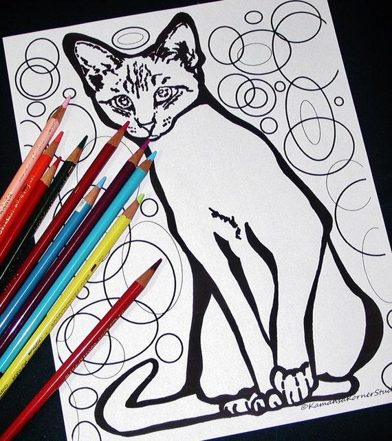 Artículos Similares A 3 Páginas Delgado Liso Pelo Corto Gatito Gato