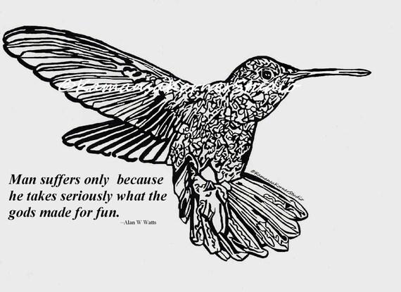 Rondando Humminbird número dos 2 para colorear página | Etsy