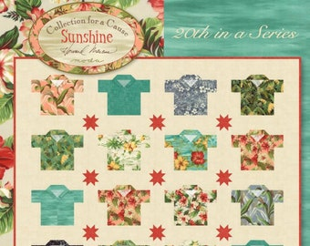 Sunshine Hawaiian Shirt Quilt Pattern - by Moda - Paper Pattern