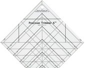 Precision Trimmer 6 - Clear ruler by Marsha McCloskey - 6 1/2 inch Rotary Cutting Ruler - Clear Plastic - Trimmer 6