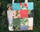 Charm Street Market Tote Bag Kit - Sunshine by Moda - Collection for a Cause 2017 - Hawaiian Prints - PRICE REDUCED