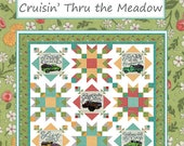 Cruisin' Thru the Meadow Quilt Kit by Deb Strain for Moda - Fabric for Quilt top and binding - Finished Size 56x72