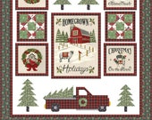 """Homegrown Holidays Boxed Quilt Kit - by Moda - Pattern included - Makes Quilt 54""""x58"""" - by Deb Strain for Moda"""