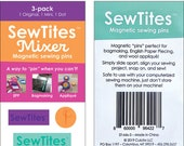 SewTites Mixer Set 3 - Magnets used instead of pins - set of 3 - Rectangle, Mini Rectangle and Dot - Great for making Bags - 3-pack