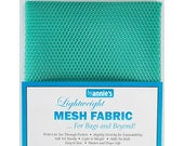 "Mesh Fabric - by Annie - 18""x54"" - 100% polyester - Color - Turquoise - Mesh Fabric by Annie"