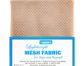 "Mesh Fabric - by Annie - 18""x54"" - 100% polyester - Color - Natural - Mesh Fabric by Annie"