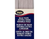 Extra Wide Double Fold Bias Tape - by Wrights  - 1/2 inch - 55 Polyester/45 Cotton -  Shadow 206 1243