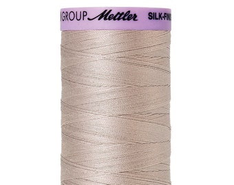 Mettler Silk Finish 100% Cotton Mercerized Thread - 50 wt. thread - Cloud Gray color - Mettler Cotton for Piecing - 500m(547yd)