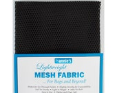 "Mesh Fabric - by Annie - 18""x54"" - 100% polyester - Color - black - Mesh Fabric by Annie"