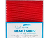 "Mesh Fabric - by Annie - 18""x54"" - 100% polyester - Color - red - Mesh Fabric by Annie"
