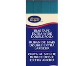 Extra Wide Double Fold Bias Tape - by Wrights  - 1/2 inch - 55 Polyester/45 Cotton -  Mediterranean 206 1242