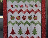 "Holiday Trimmings Quilt Kit - Moda Good Tidings Fabric - 46""x58"" - Pattern by Epicurean Boutique"