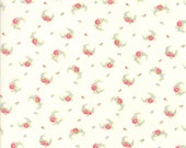 Guernsey Fabric - Brenda Riddle for Moda - 18643 11 - 1/2 Yard - Ivory with floral Swag