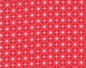 Moda Fabric - Good Tidings by Brenda Riddle - 1/2 yard - 18663-12 Red and white crisscross checkered - Cotton Fabric