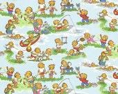 Moda Fabric - Berenstain Bears - Welcome To Bear Country  Cotton Fabric - Sky 55501 12 - 1/3 yard