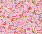 Moda Fabric - Coco by Chez Moi 33392 - 17 - 1/2 yard -  Pink with print Floral design - Cotton Fabric