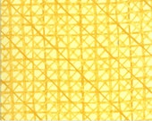 "Moda Fabric - Solana by Robin Pickens - 48685 12 - Cotton Fabric - Yellow - criss-cross Buttercup - 44"" wide - Solana 1/2 yard"