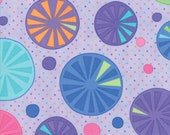 Moda Fabric - Pouring Purple with circles - Rainy Day by Me and My Sister - 1/2 yard - 22290-11 Multi-color Print - Cotton Fabric