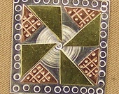 Magnetic Needle Nanny - Pinwheel Quilt Block - by Puffin & Company - For keeping track of your needles