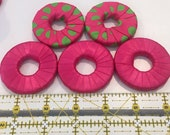 Pattern weights - Use instead of Pins when Cutting out a Sewing Pattern - Or Just Hold Your Book Open-Hot Pink/green - Satin Ribbon