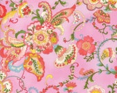 Moda Fabric - Coco by Chez Moi 33390- 16 - 1/2 yard - Pink with Floral design - Cotton Fabric