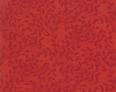 Moda Fabric - Cultivate Kindness by Deb Strain for Moda - 19934 14 - Red on Red with leaf print - 100% cotton fabric- 1/2 yard pricing