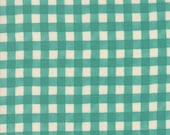 Moda Fabric - Cultivate Kindness by Deb Strain for Moda - 19935 14 - Teal Check - 100% cotton fabric- 1/2 yard pricing
