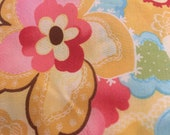 Moda Fabric - Coquette by Chez Moi 16062 - 13 - 1/2 yard - Yellow with large print Floral design - Cotton Fabric