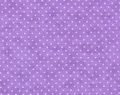 Moda Fabric - Essential Dots - Lilac color - 1/2 yard - 8654 - 31 Lilac (light purple) with white dots - Cotton Fabric