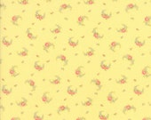 Guernsey Fabric - Brenda Riddle for Moda - 18643 14 - 1/2 Yard - Yellow with floral Swag