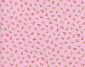 Moda Fabric - Coco by Chez Moi 33395 - 17 - 1/2 yard -  Pink with small print Floral design - Cotton Fabric