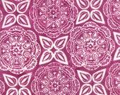"Moda Fabric - Longitude Batiks by Kate Spain - 1/2 yard - 27259 - 43 Plum and off white Batik print - Cotton Batik Fabric - 44"" wide"