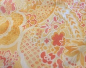 Moda Fabric - Mimi by Chez Moi -  Cotton Fabric 16093 - 1/2 yard - Yelow, Gold, Coral