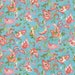 Susan reviewed Moda Fabric - Coco by Chez Moi 33392 - 15 - 1/2 yard - Blue with Floral design - Cotton Fabric