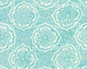 Moda Fabric - Latitudes Batiks by Kate Spain - A light aqua print Batik - 27250 279 - 1/2 yard - 100% cotton Batik