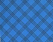 Moda Fabric - Berenstain Bears - Welcome To Bear Country - Royal Blue Plaid 55507-12 - 7/8 yard