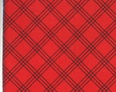 Moda Fabric - Berenstain Bears - Welcome To Bear Country - Red Plaid 55507-13 - Fat Quarter