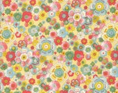 Moda Fabric - Coco by Chez Moi 33391 - 11 - 1/2 yard - Yellow with Floral design - Cotton Fabric