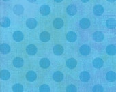 Moda Fabric - Grunge Hits the Spot - Sky color - 1/2 yard - 30149 - 26 Light Turquoise with blue spots - Cotton Fabric