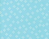 Moda Fabric - The Front Porch by Sherri and Chelsi - 1/2 yard - 37544-16 aqua Print - Cotton Fabric