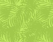 Island Sun Cotton Fabric by Northcott - 22619-72 - Lime Green with tropical ferns - 1/2 yard