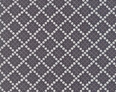 Guernsey by Brenda Riddle for Moda - 18646 17 - 1/2 Yard - Charcoal plaid - 100% Cotton
