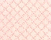 Windermere Prints - Brenda Riddle for Moda - 18613 19 - 1/2 Yard - Pink with on point floral design - cotton fabric