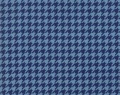 Moda Fabric - Snow Much Fun by Deb Strain - 1/2 yard - 19807-14 Blue hounds tooth - Cotton Fabric