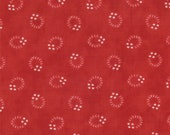 Moda Fabric - Grant Park -  by Minick & Simpson - 1/2 yard - 14776-12 - Red with white circle print- Cotton Fabric