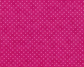 Moda Fabric - Essential Dots - Hot Pink color - 1/2 yard - 8654 - 31 Hot Pink with white dots - Cotton Fabric
