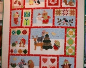 Critter Christmas Quilt Kit with Book by Brandywine Design