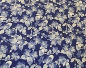 Moda Fabric - Summer Breeze III - 1/2 yard - 32945 -18   Royal blue with Blue and white Floral Print - Cotton Fabric