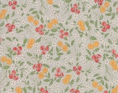 Moda Fabric - Cultivate Kindness by Deb Strain for Moda - 19932 12 - Gray with small floral print - 100% cotton fabric - 1/2 yard pricing